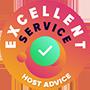 Nous avons pris le temps de vérifier personnellement et anonymement le service client de chaque entreprise. Le 'Badge of excellence' a été décerné à des entreprises d'hébergement Web respecté l'hôte qui suit des normes élevées de service de conseils au client, ce qui garantit que le service soit rapide, efficace, perspicace et surtout, utile.